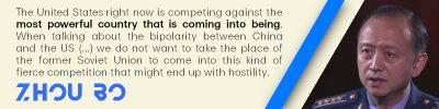 China is not willing to take USSR's place